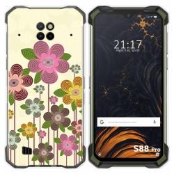 Funda Gel Tpu para Doogee S88 diseño Primavera En Flor Dibujos