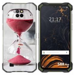 Funda Gel Tpu para Doogee S88 diseño Reloj Dibujos