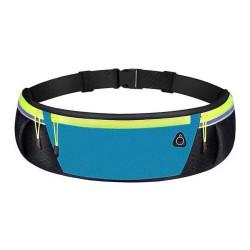 Cinturon Riñonera Reflectante para Correr Color Azul / Negro