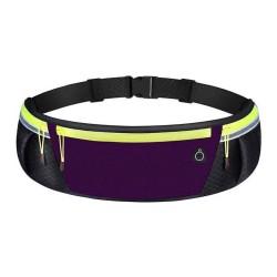 Cinturon Riñonera Reflectante para Correr Color Morado / Negro