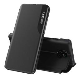 Funda Libro Soporte Magnética Eco Piel con Ventana para Xiaomi Redmi Note 9S / Note 9 Pro Negra