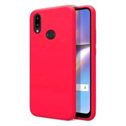 Funda Silicona Líquida Ultra Suave para Samsung Galaxy A10s color Rosa Fucsia