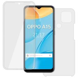 Funda Completa Transparente Pc + Tpu Full Body 360 para Oppo A15