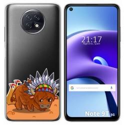 Funda Gel Transparente para Xiaomi Redmi Note 9T 5G diseño Bufalo Dibujos