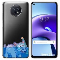 Funda Gel Transparente para Xiaomi Redmi Note 9T 5G diseño Hipo Dibujos