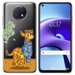 Funda Gel Transparente para Xiaomi Redmi Note 9T 5G diseño Jirafa Dibujos