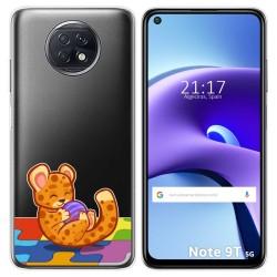 Funda Gel Transparente para Xiaomi Redmi Note 9T 5G diseño Leopardo Dibujos