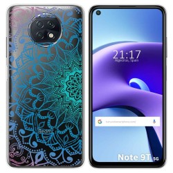 Funda Gel Transparente para Xiaomi Redmi Note 9T 5G diseño Mandala Dibujos