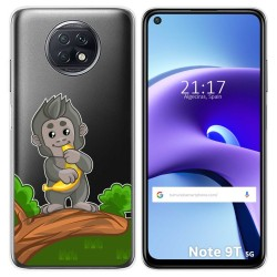Funda Gel Transparente para Xiaomi Redmi Note 9T 5G diseño Mono Dibujos