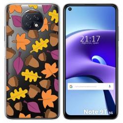 Funda Gel Transparente para Xiaomi Redmi Note 9T 5G diseño Otoño Dibujos