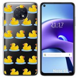 Funda Gel Transparente para Xiaomi Redmi Note 9T 5G diseño Pato Dibujos