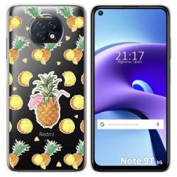 Funda Gel Transparente para Xiaomi Redmi Note 9T 5G diseño Piña Dibujos