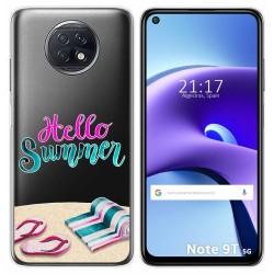 Funda Gel Transparente para Xiaomi Redmi Note 9T 5G diseño Summer Dibujos