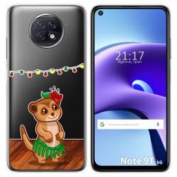 Funda Gel Transparente para Xiaomi Redmi Note 9T 5G diseño Suricata Dibujos