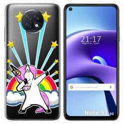 Funda Gel Transparente para Xiaomi Redmi Note 9T 5G diseño Unicornio Dibujos
