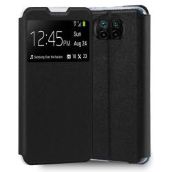 Funda Libro Soporte con Ventana para Xiaomi Redmi Note 9T 5G Color Negra