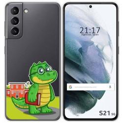 Funda Gel Transparente para Samsung Galaxy S21 5G diseño Coco Dibujos