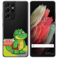 Funda Gel Transparente para Samsung Galaxy S21 Ultra 5G diseño Coco Dibujos
