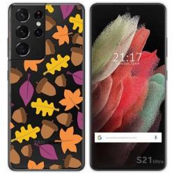 Funda Gel Transparente para Samsung Galaxy S21 Ultra 5G diseño Otoño Dibujos