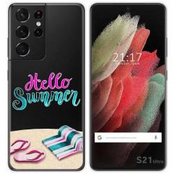 Funda Gel Transparente para Samsung Galaxy S21 Ultra 5G diseño Summer Dibujos
