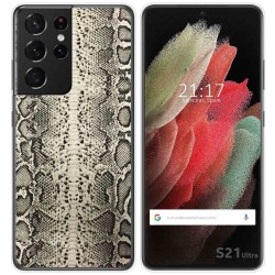 Funda Gel Tpu para Samsung Galaxy S21 Ultra 5G diseño Animal 01 Dibujos