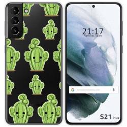 Funda Gel Transparente para Samsung Galaxy S21+ Plus 5G diseño Cactus Dibujos