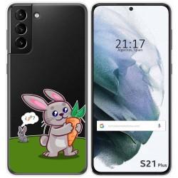 Funda Gel Transparente para Samsung Galaxy S21+ Plus 5G diseño Conejo Dibujos