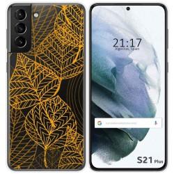 Funda Gel Transparente para Samsung Galaxy S21+ Plus 5G diseño Hojas Dibujos