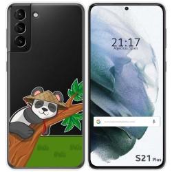 Funda Gel Transparente para Samsung Galaxy S21+ Plus 5G diseño Panda Dibujos