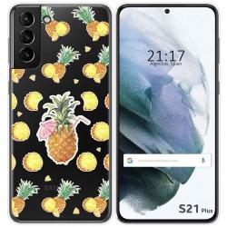 Funda Gel Transparente para Samsung Galaxy S21+ Plus 5G diseño Piña Dibujos