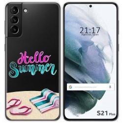 Funda Gel Transparente para Samsung Galaxy S21+ Plus 5G diseño Summer Dibujos