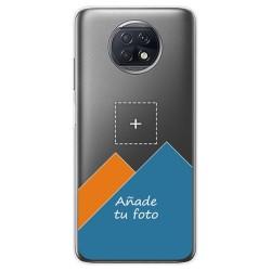 Personaliza tu Funda Gel Silicona Transparente con tu Fotografia para Xiaomi Redmi Note 9T 5G dibujo personalizada