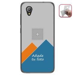 Personaliza tu Funda Gel Silicona Transparente con tu Fotografia para Alcatel 1 / Orange Rise 54 / Vodafone Smart E9 Dibujo