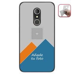 Personaliza tu Funda Gel Silicona Transparente con tu Fotografia para ALCATEL U5 (3G) Dibujo Personalizada