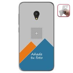 Personaliza tu Funda Gel Silicona Transparente con tu Fotografia para ALCATEL U5 (4G) / Rise 52 Dibujo Personalizada