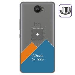Personaliza tu Funda Gel Silicona Transparente con tu Fotografia para BQ AQUARIS U / U Lite Dibujo Personalizada