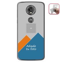 Personaliza tu Funda Gel Silicona Transparente con tu Fotografia para Motorola Moto E5 Plus Dibujo Personalizada