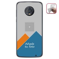 Personaliza tu Funda Gel Silicona Transparente con tu Fotografia para Motorola Moto G6 Plus Dibujo Personalizada