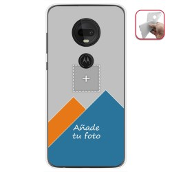 Personaliza tu Funda Gel Silicona Transparente con tu Fotografia para Motorola Moto G7 / G7 Plus Dibujo Personalizada
