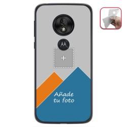 Personaliza tu Funda Gel Silicona Transparente con tu Fotografia para Motorola Moto G7 Play Dibujo Personalizada