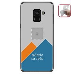 Personaliza tu Funda Gel Silicona Transparente con tu Fotografia para Samsung Galaxy A8 (2018) Dibujo Personalizada