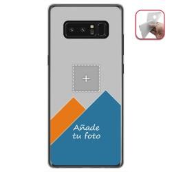 Personaliza tu Funda Gel Silicona Transparente con tu Fotografia para Samsung Galaxy Note 8 Dibujo Personalizada