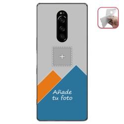 Personaliza tu Funda Gel Silicona Transparente con tu Fotografia para Sony Xperia 1 Dibujo Personalizada