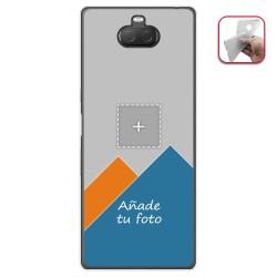 Personaliza tu Funda Gel Silicona Transparente con tu Fotografia para Sony Xperia 10 Plus Dibujo Personalizada