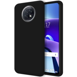 Funda Silicona Líquida Ultra Suave para  Xiaomi Redmi Note 9T 5G color Negra