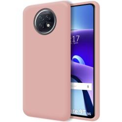Funda Silicona Líquida Ultra Suave para  Xiaomi Redmi Note 9T 5G color Rosa