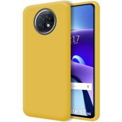 Funda Silicona Líquida Ultra Suave para  Xiaomi Redmi Note 9T 5G color Amarilla