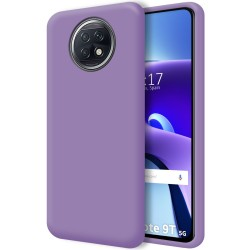 Funda Silicona Líquida Ultra Suave para  Xiaomi Redmi Note 9T 5G color Morada