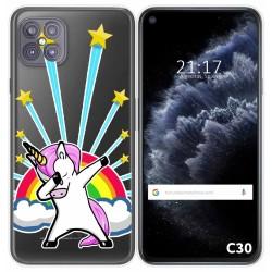 Funda Gel Transparente para Cubot C30 diseño Unicornio Dibujos