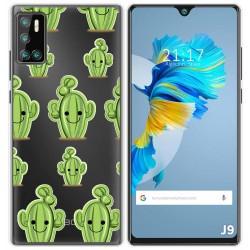 Funda Gel Transparente para Cubot J9 diseño Cactus Dibujos